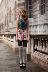 Shorts-Floral-Knee-High-Socks-Denim-Vest
