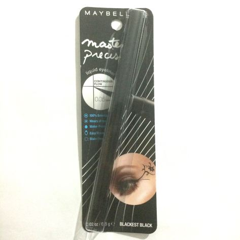 "Maybelline Master Precise Liquid Eye Liner in ""Blackest Black"" - $7.47."