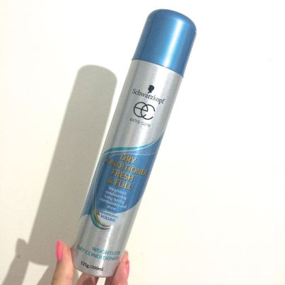 Schwarzkopf Dry Conditioner Fresh and Full Spray. This smells terrible and I can barely use it due to the odour!