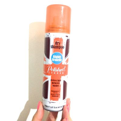 Polished London 'Blightly Brunette' Dry Shampoo. Love this stuff and it's so affordable!